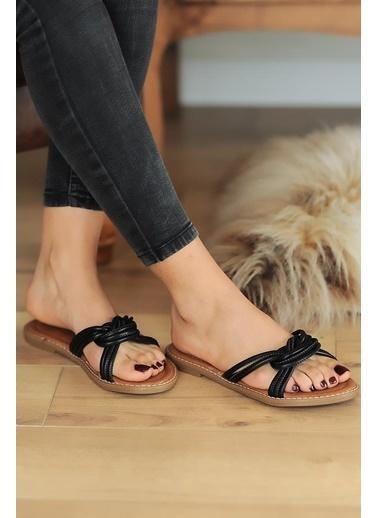 Pembe Potin A2075-20 Kadın sandalet Siyah